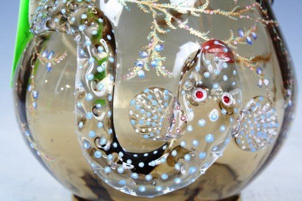 1023: Moser Enameled & Gilt Glass Vase - 2