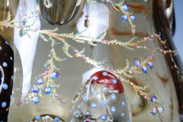 1023: Moser Enameled & Gilt Glass Vase - 3