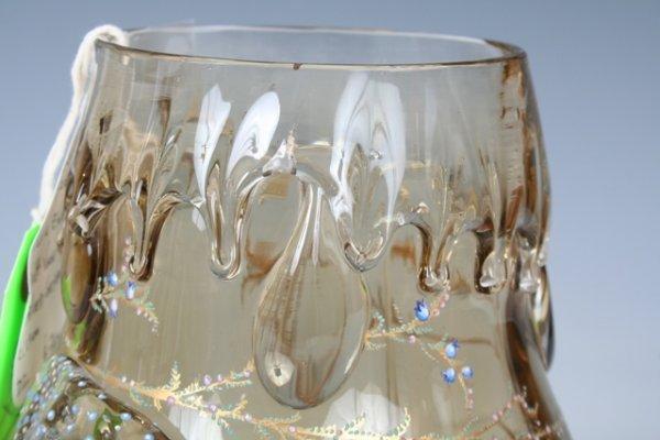 1023: Moser Enameled & Gilt Glass Vase - 4