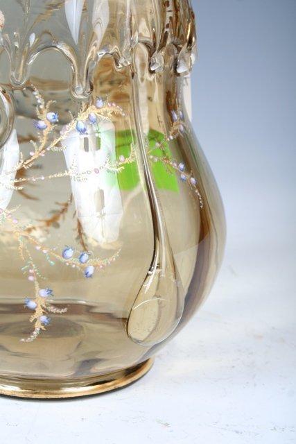 1023: Moser Enameled & Gilt Glass Vase - 6