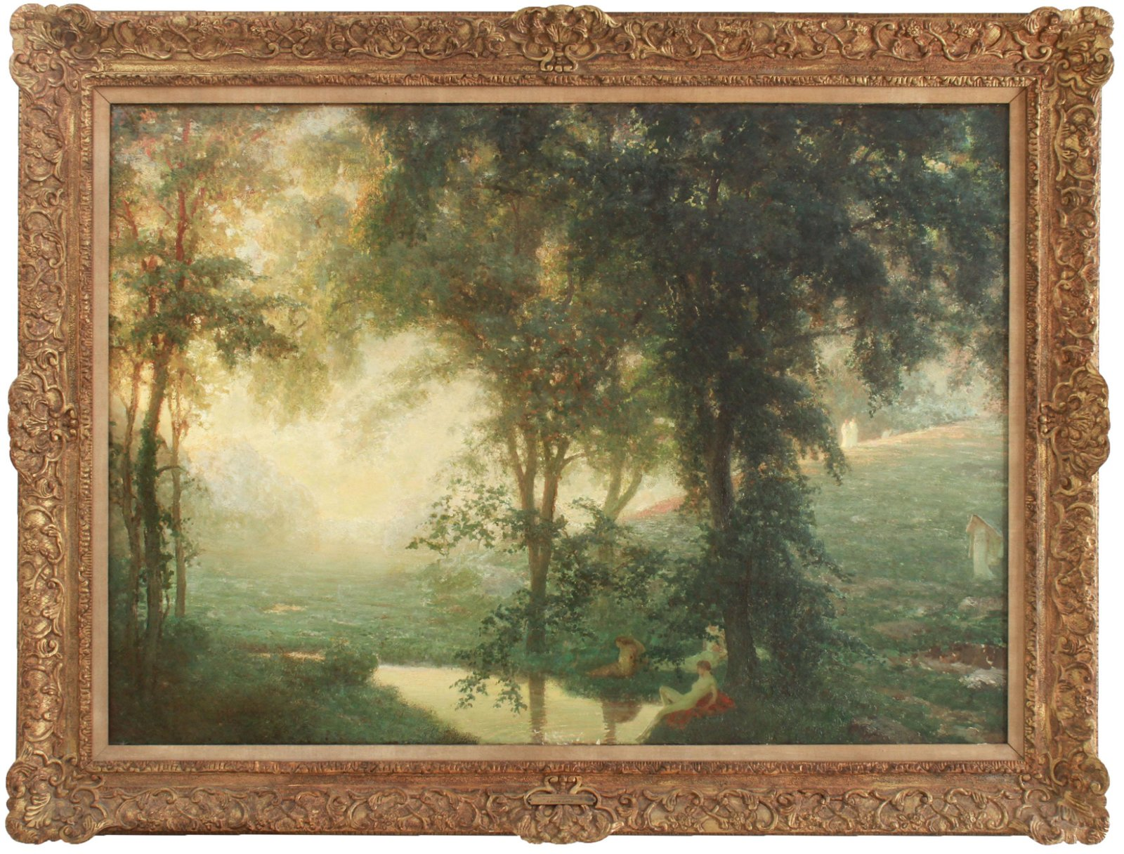 "Louis Loeb ""The Dawn - Landscape"" Oil on Canvas"