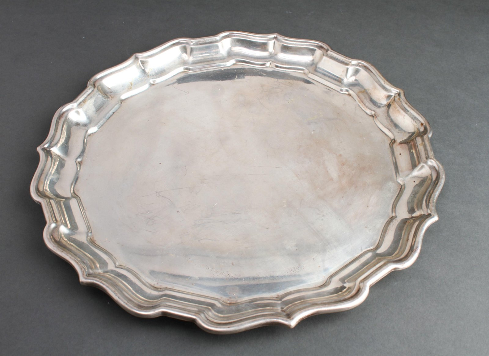 "Reed & Barton Silver ""Chippendale"" Salver Tray"