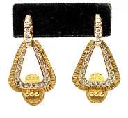 22K Yellow Gold & Diamonds Dangle Earrings