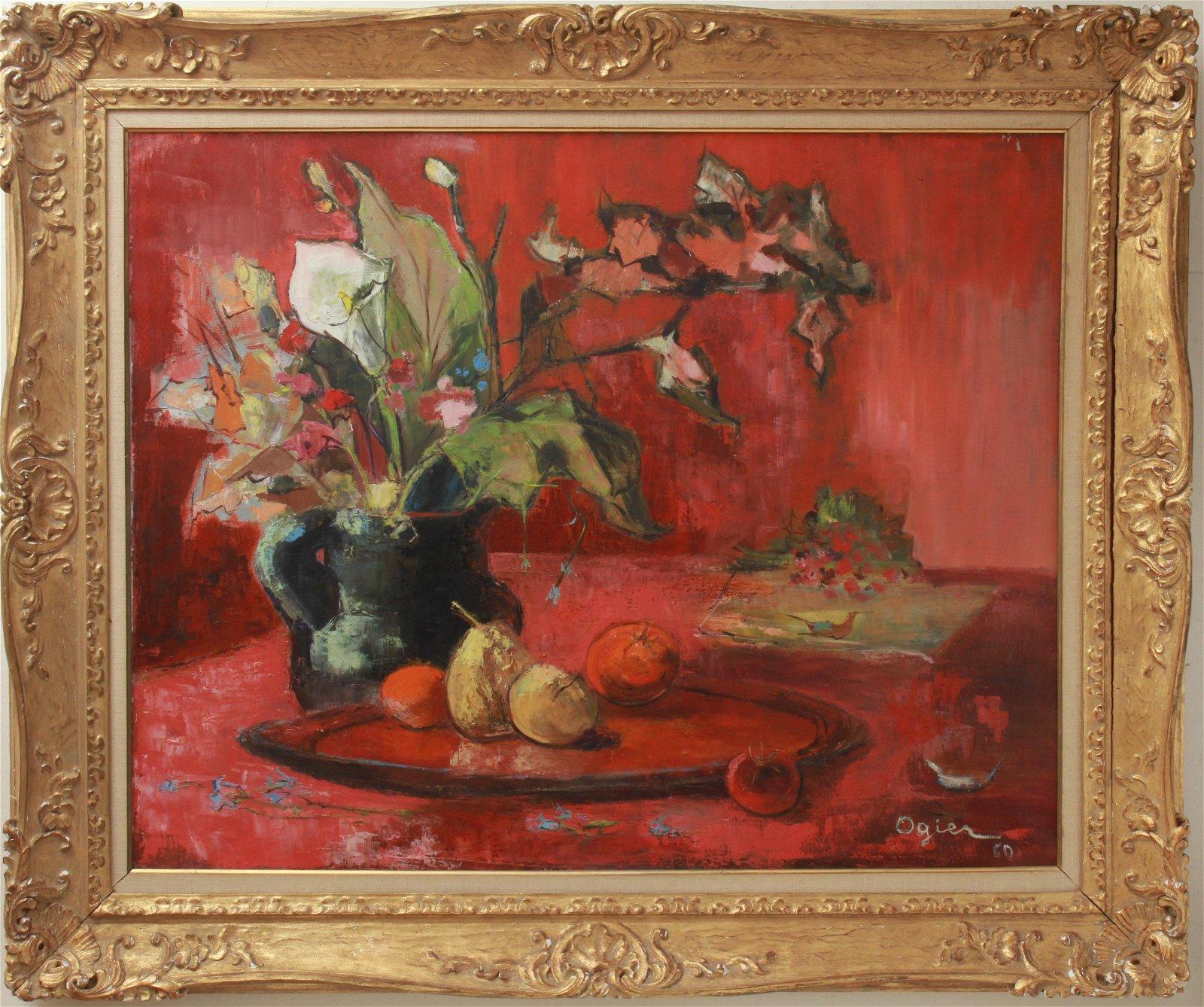 Mary Louise Ogier Still Life Oil on Canvas