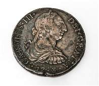 Carolus III Silver 8 Reales Pillar Coin 1783