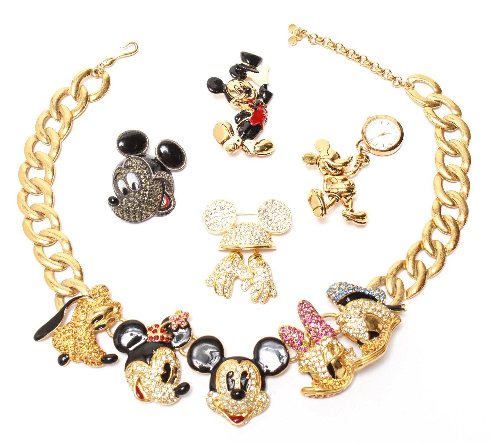 Napier Disney Costume Jewelry & Sterling Pin, 5 Pc