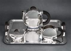 Christofle Silver-Plate Art Deco Tea Service, 4
