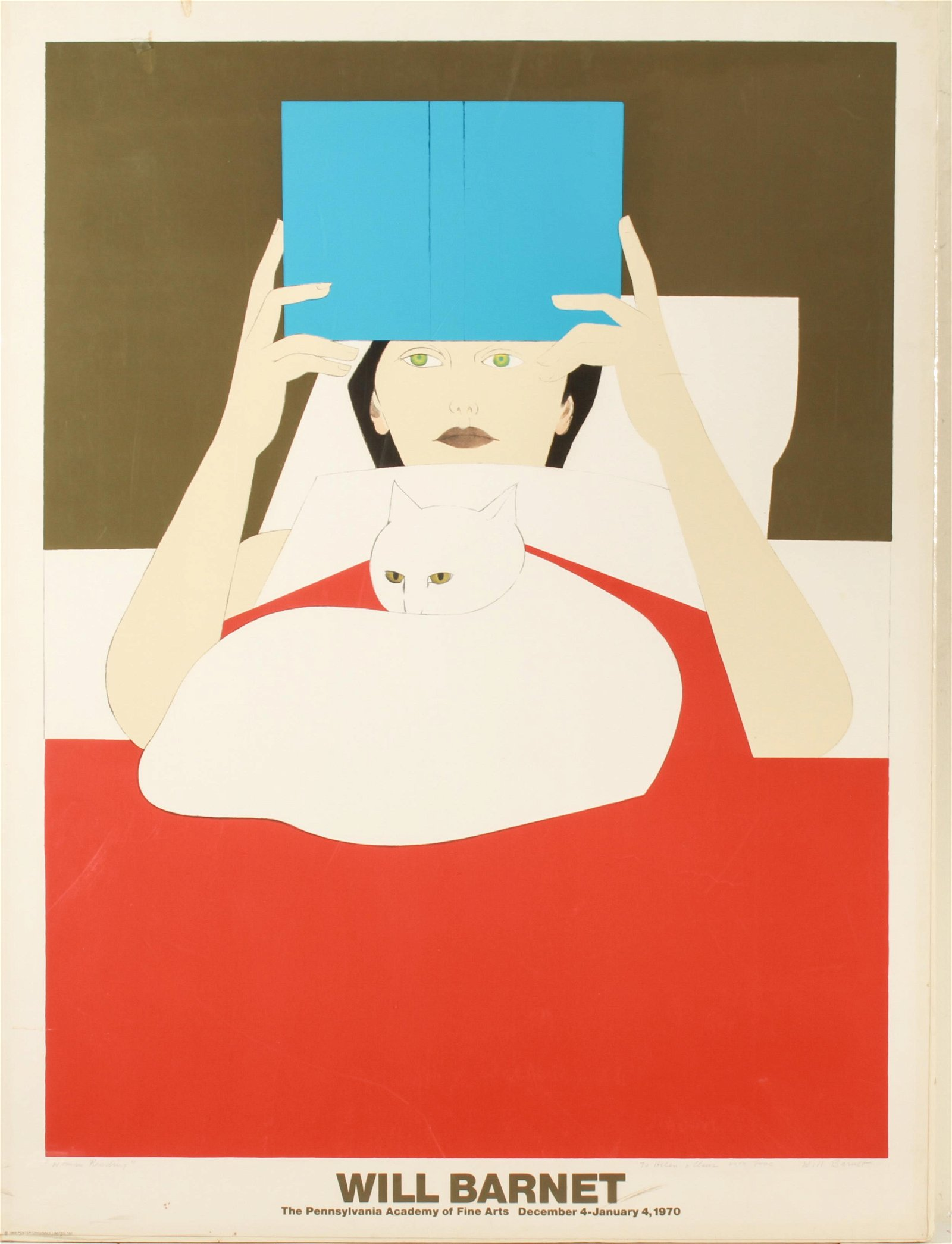"""Will Barnet """"Woman Reading"""" Poster Lithograph"""