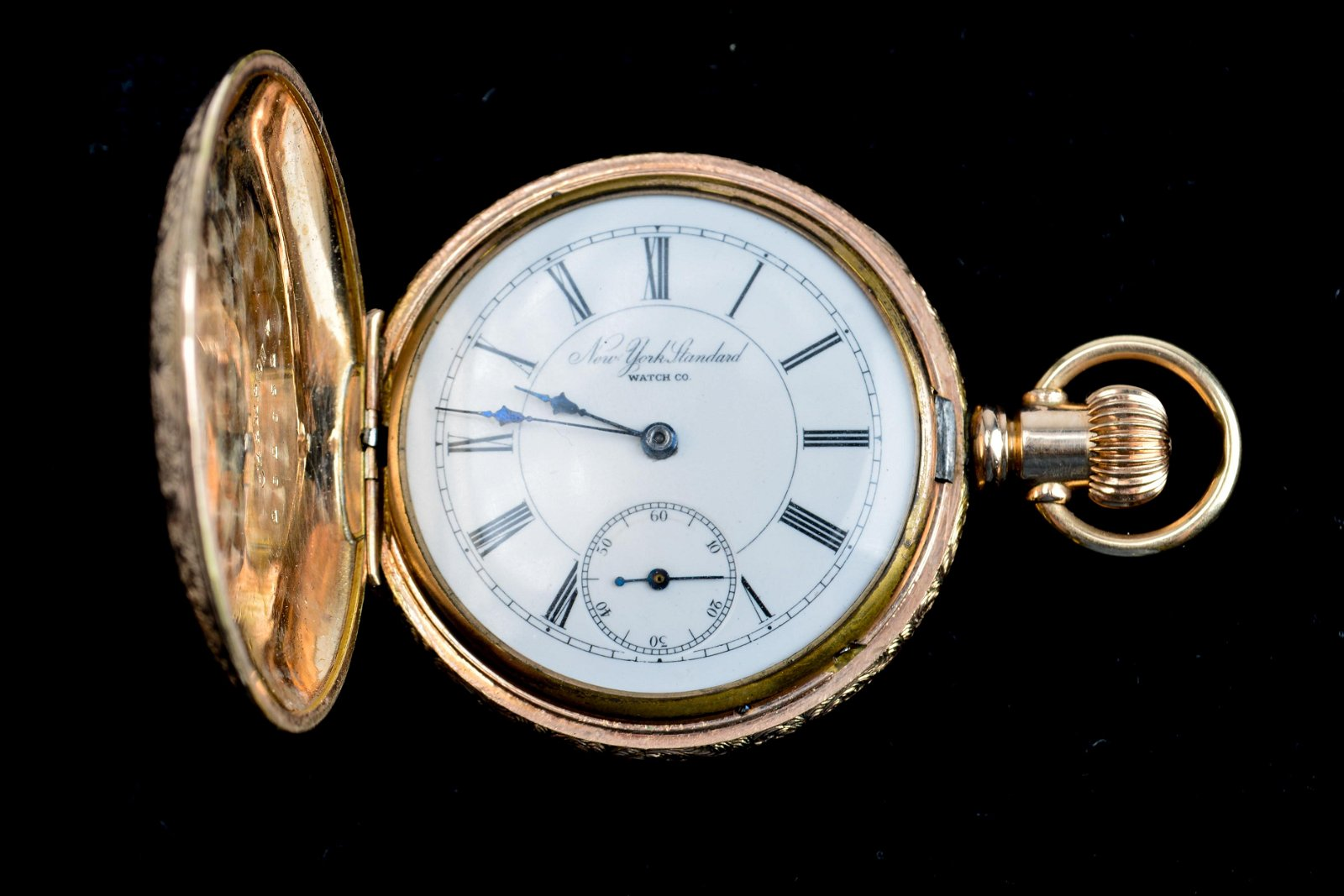 New York Standard Co. Gold-Plated Pocket Watch