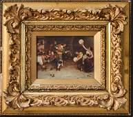 Tambourine Dancers Oil on Canvas 19th C
