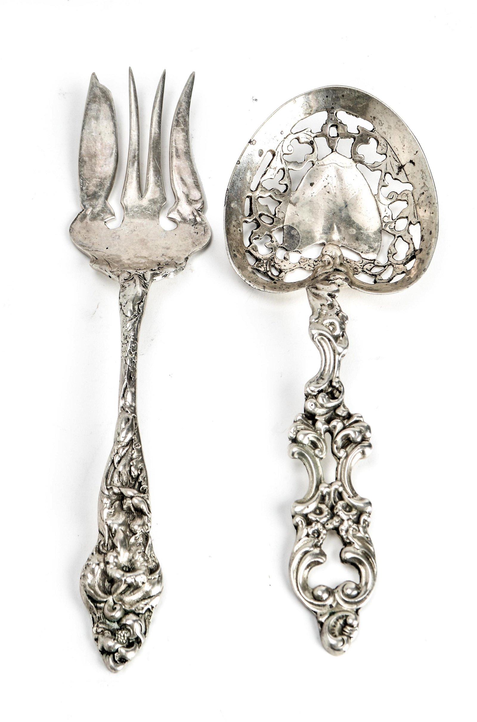 Silvercraft Art Nouveau Silver Serving Pieces, 2