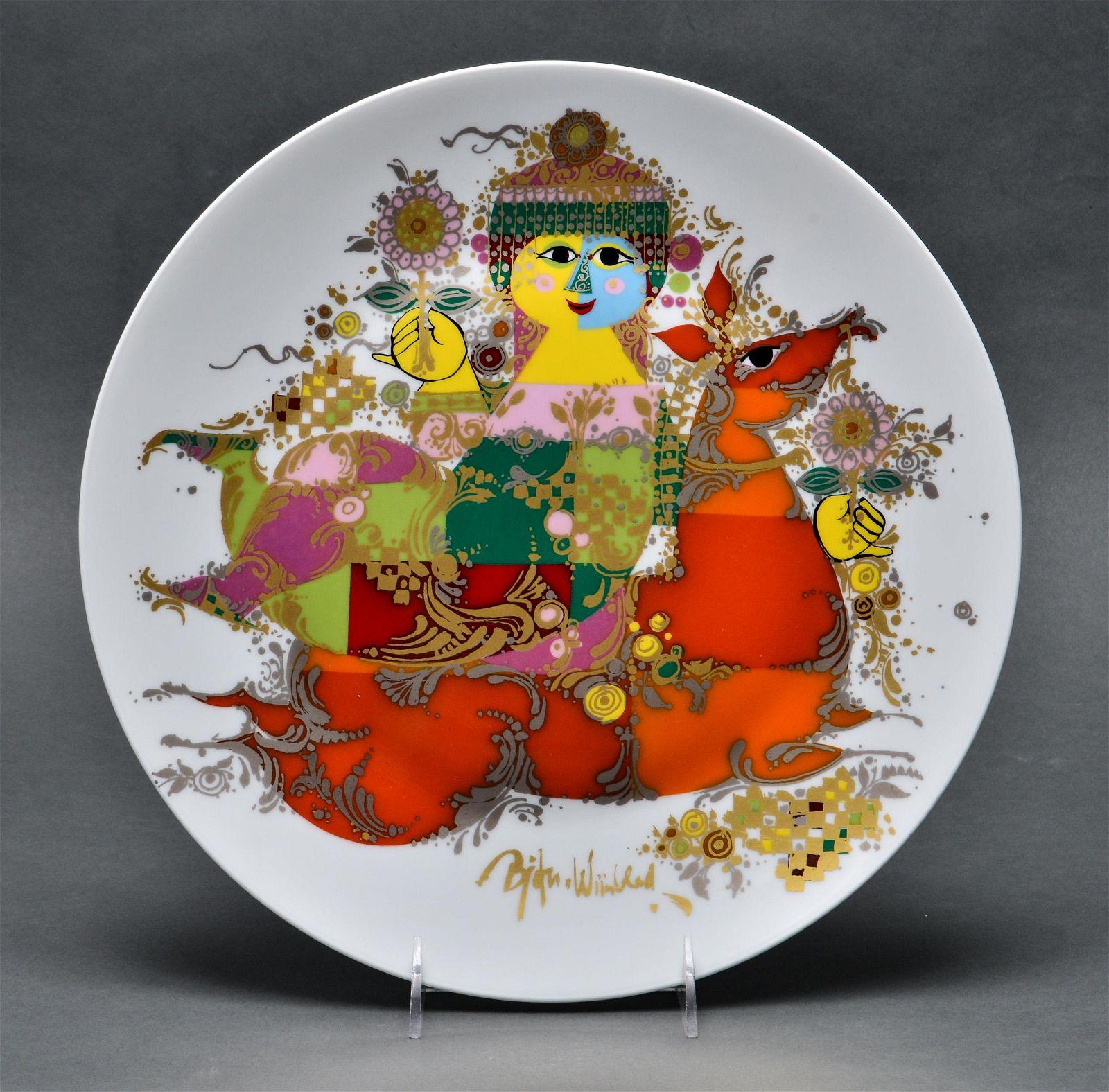 "Bjørn Wiinblad ""Horse & Rider"" Rosenthal Plate"