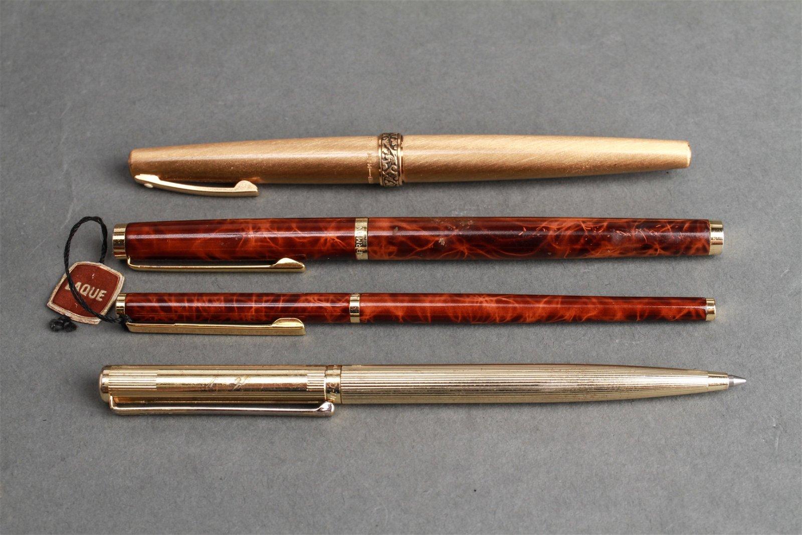 Fountain Pens & Ballpoint Pens Group of 4