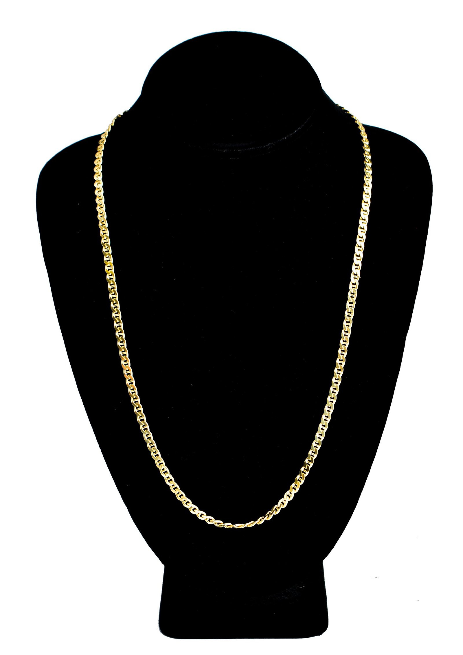Italian 18K Yellow Gold Linked Chain Necklace