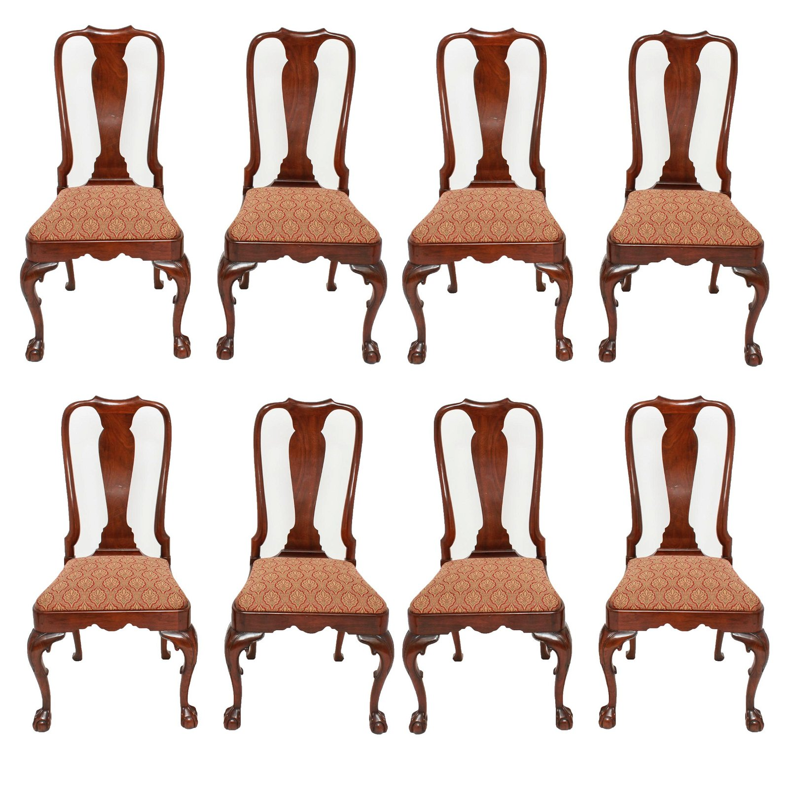 Kindel Furniture Queen Anne Style Dining Chairs, 8
