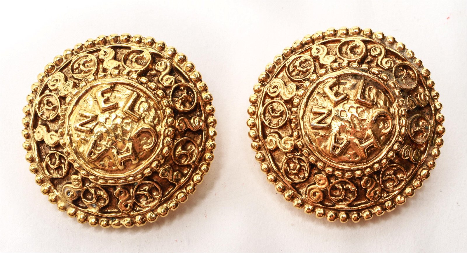 Chanel Gold-Tone Clip On Earrings, Vintage, Pair