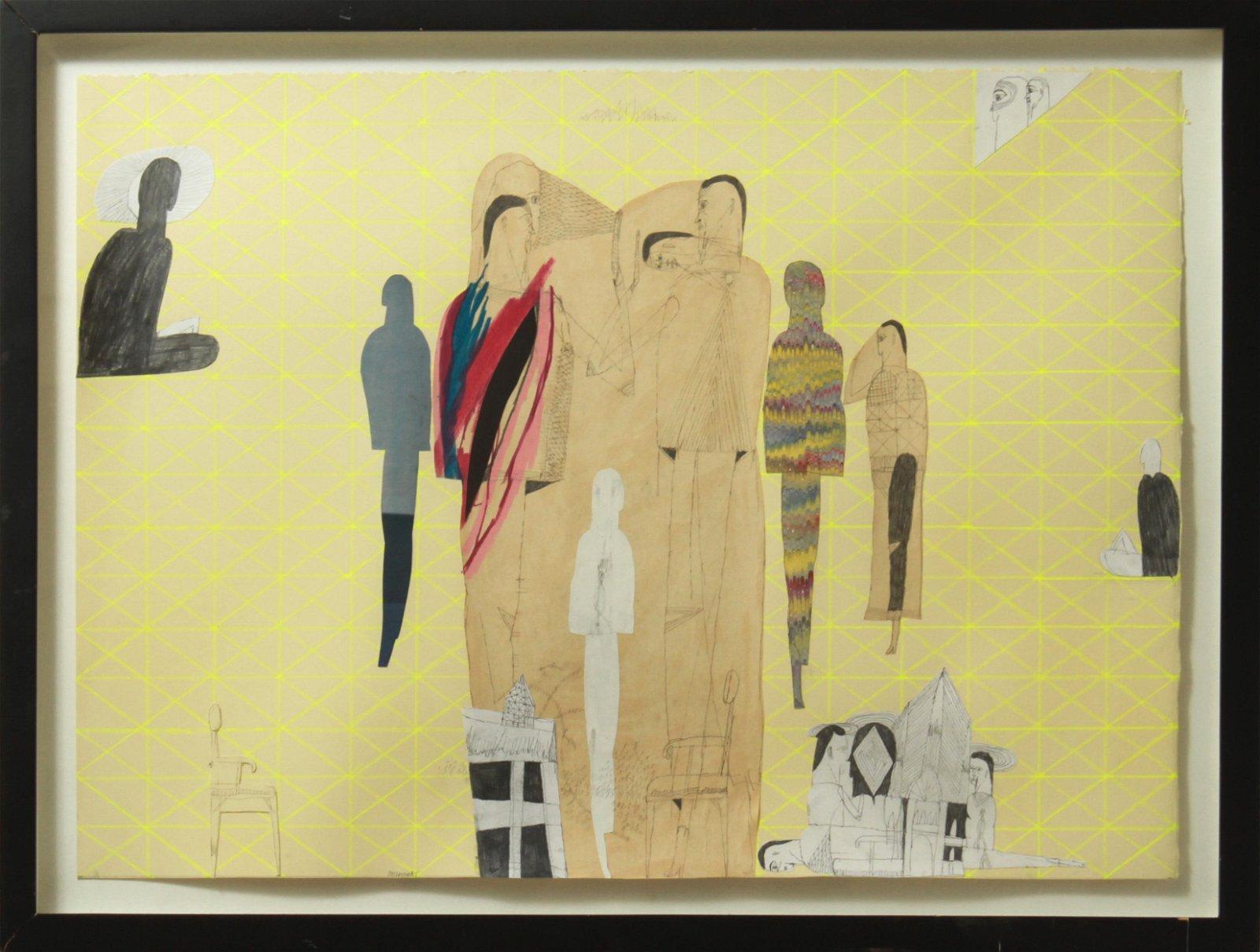 "Joseph Hart ""Horizon #2"" Mixed Media on Paper"