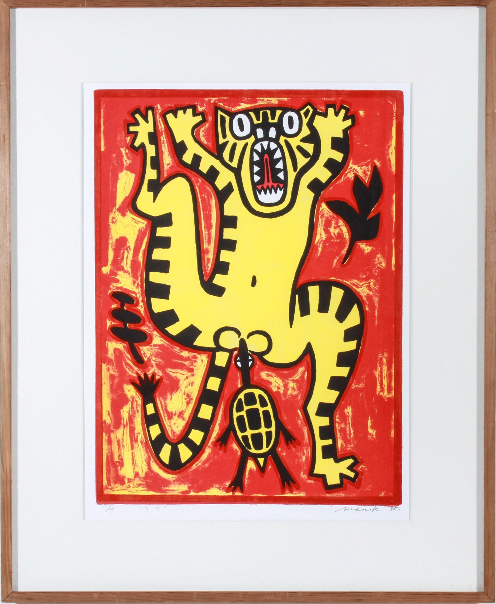 Lee Manik Modern Stylized Animal Lithograph