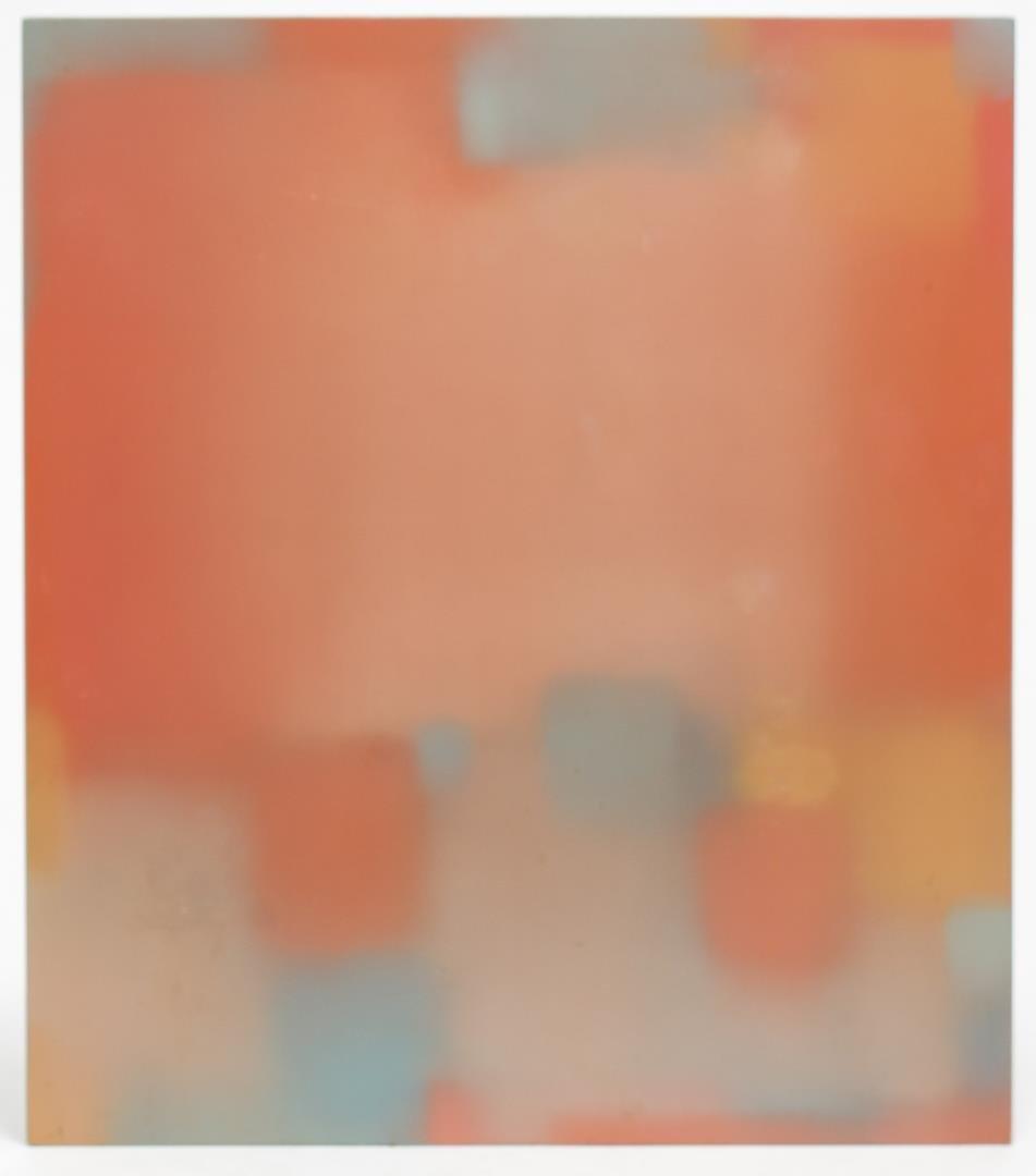Julian Jackson Abstract Pastel Oil on Panel