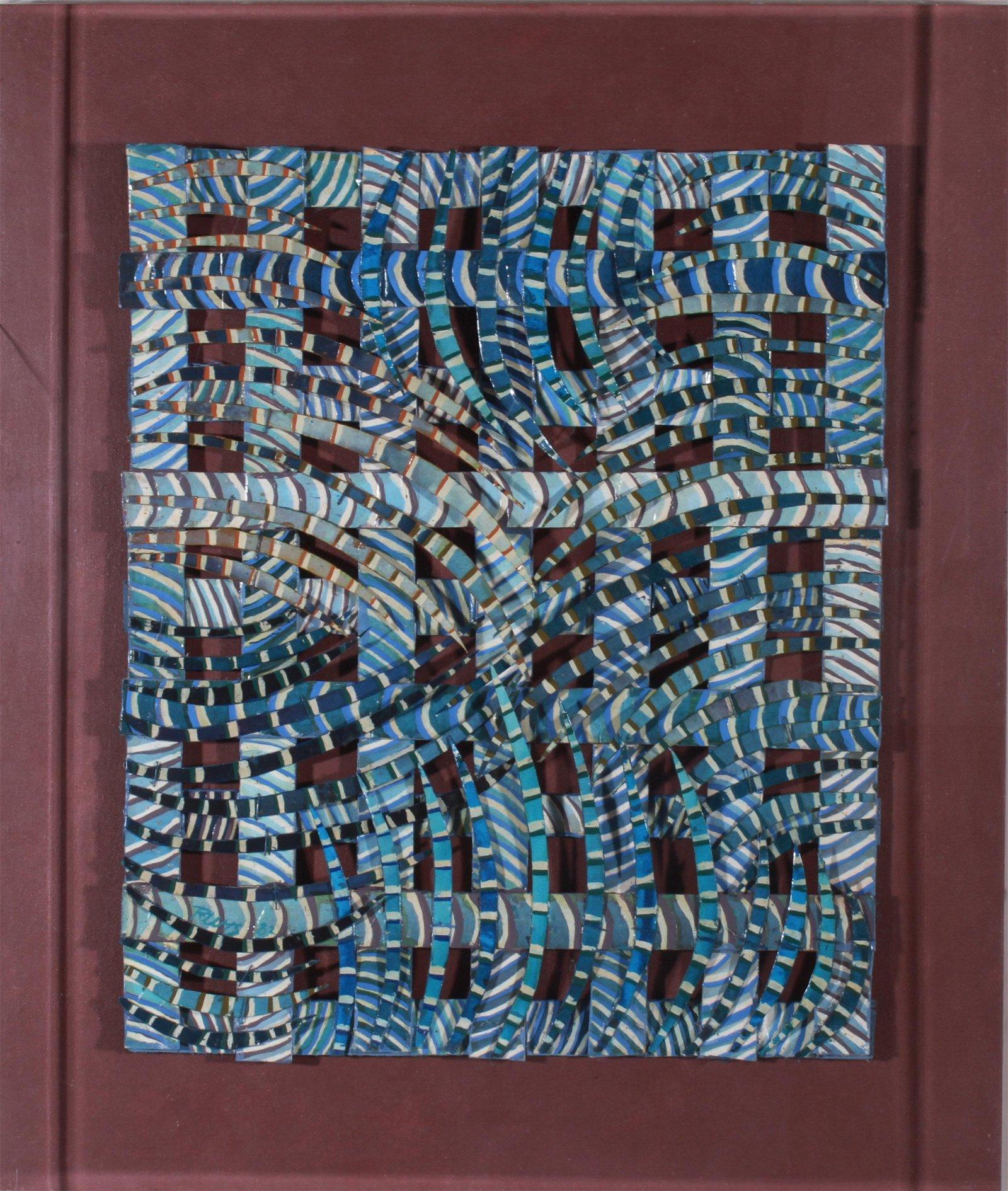 Kris Rutts Abstract Mixed Media Sculpture