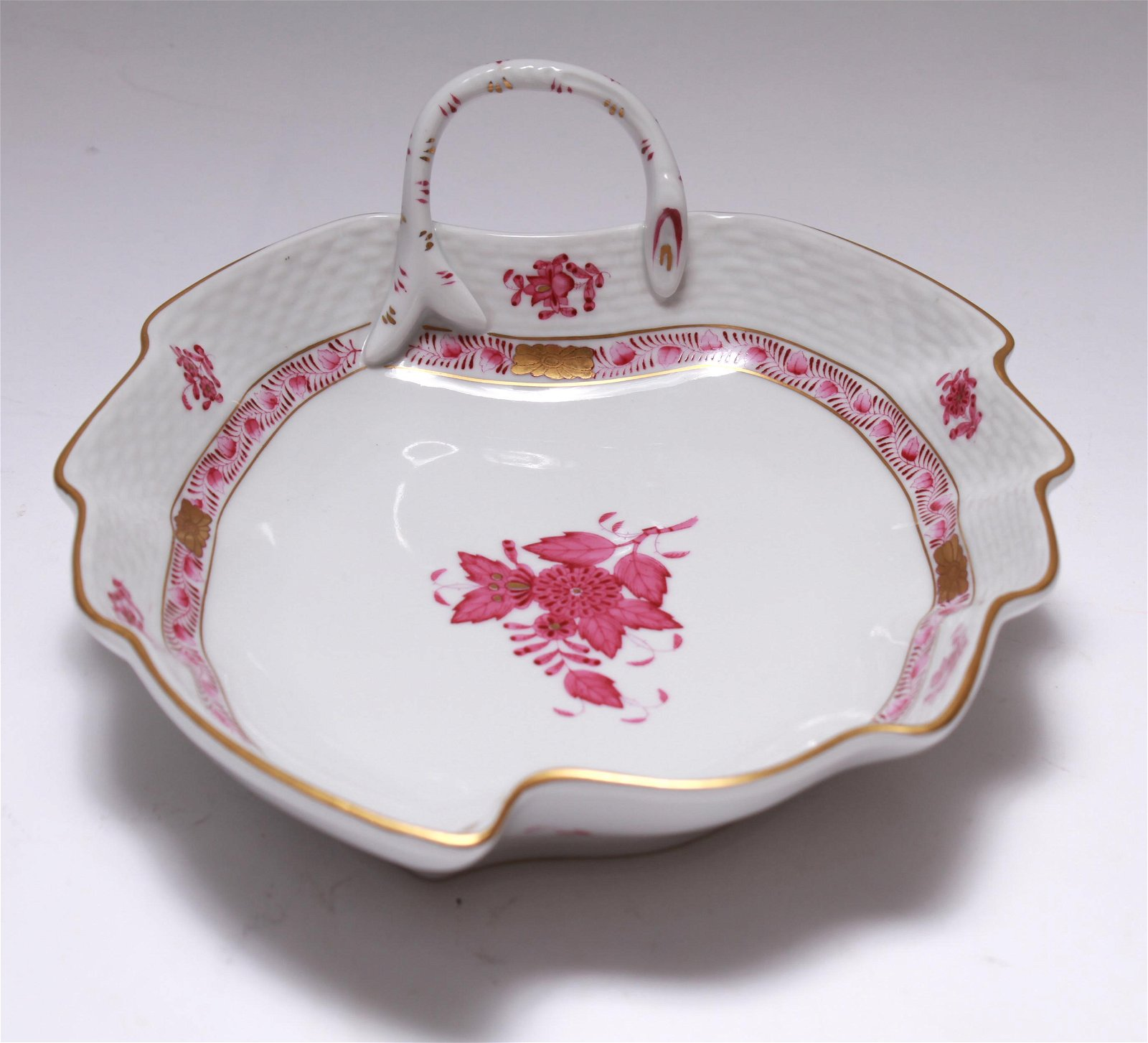 Herend Porcelain Chinese Bouquet Leaf Dish