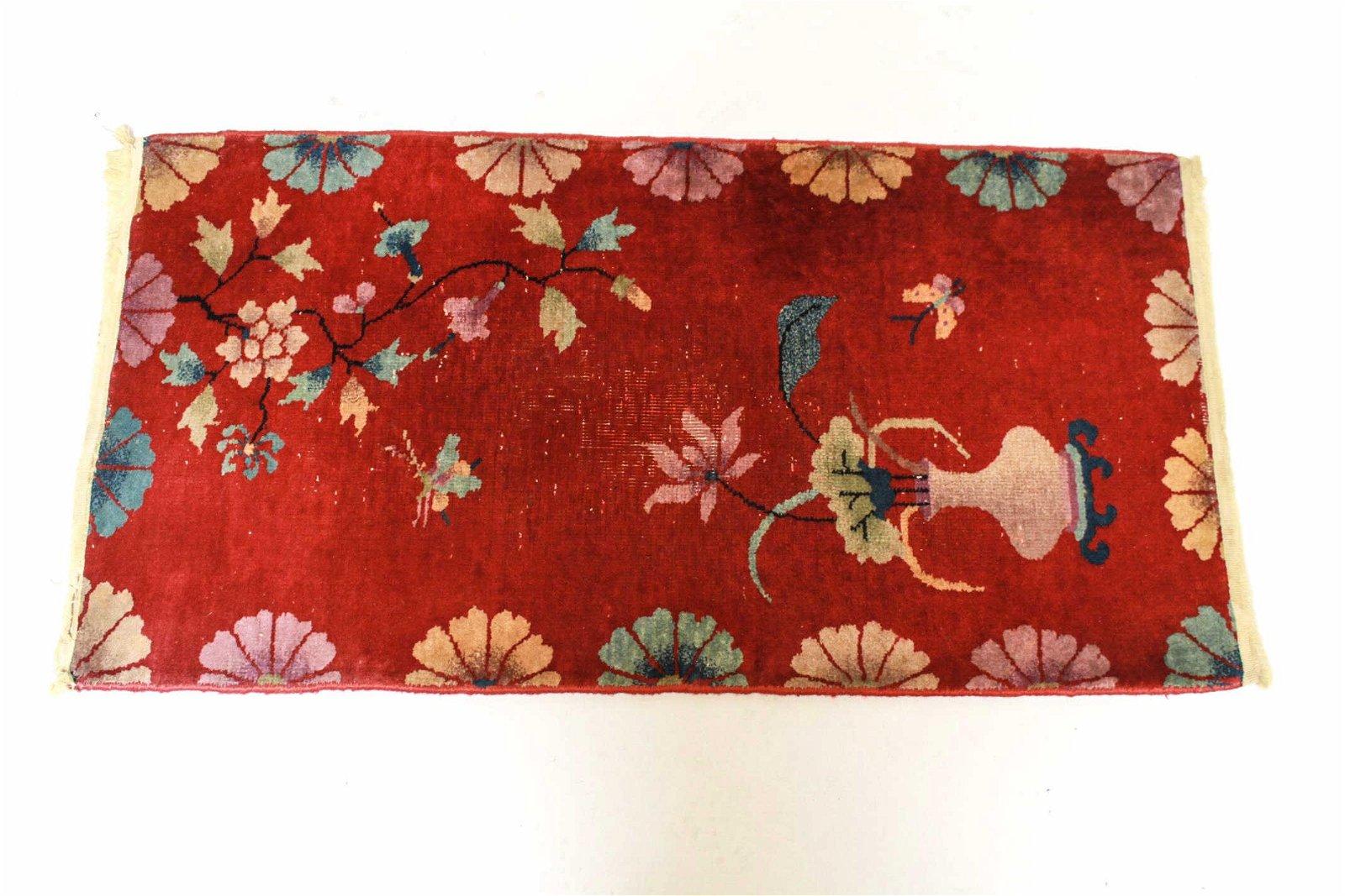 "Nichols Chinese Art Deco Rug, 1'11"" X 3'8"""