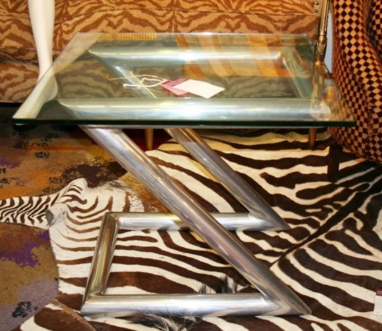 """3009: Pace Side Table """"Z"""" Design"""