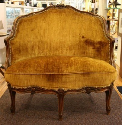 3010: Baker Furniture 19th C French Walnut Love Seat