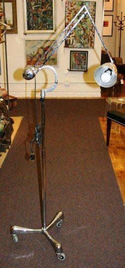 3015: Handrill and Horseman Chrome Standing Lamp