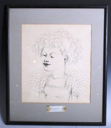 3016: Caroline Duriex Pencil on Paper