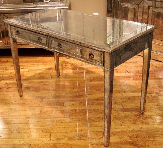 3024: Beautiful Mid-Century Mirrored Desk c. 1950's