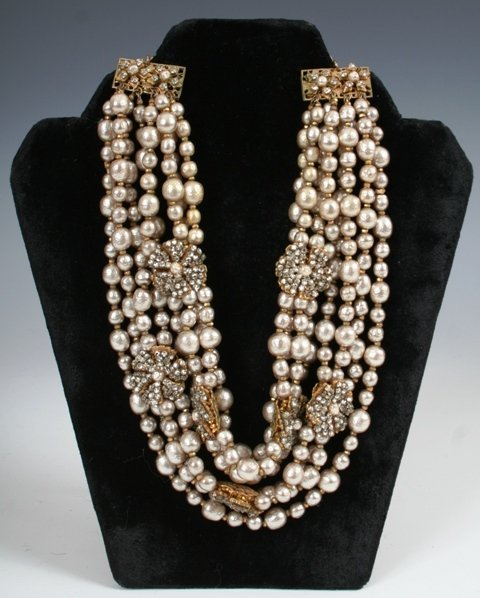 3125: Vintage Costume Jewelry Necklace by Miriam Haskel