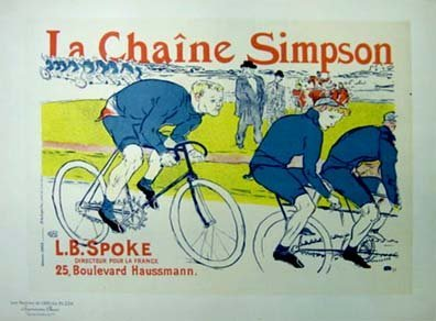 """3300: TOULOUSE-LAUTREC  1864-1901 """"La Chaine Simpson"""""""