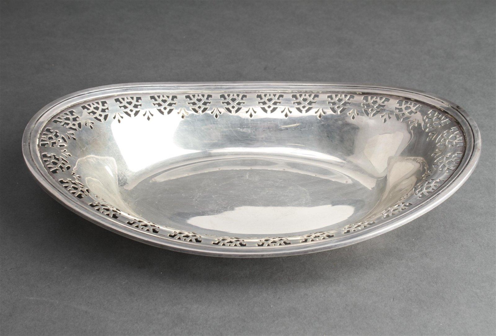 Tiffany & Co. Sterling Silver Pierced Oblong Bowl