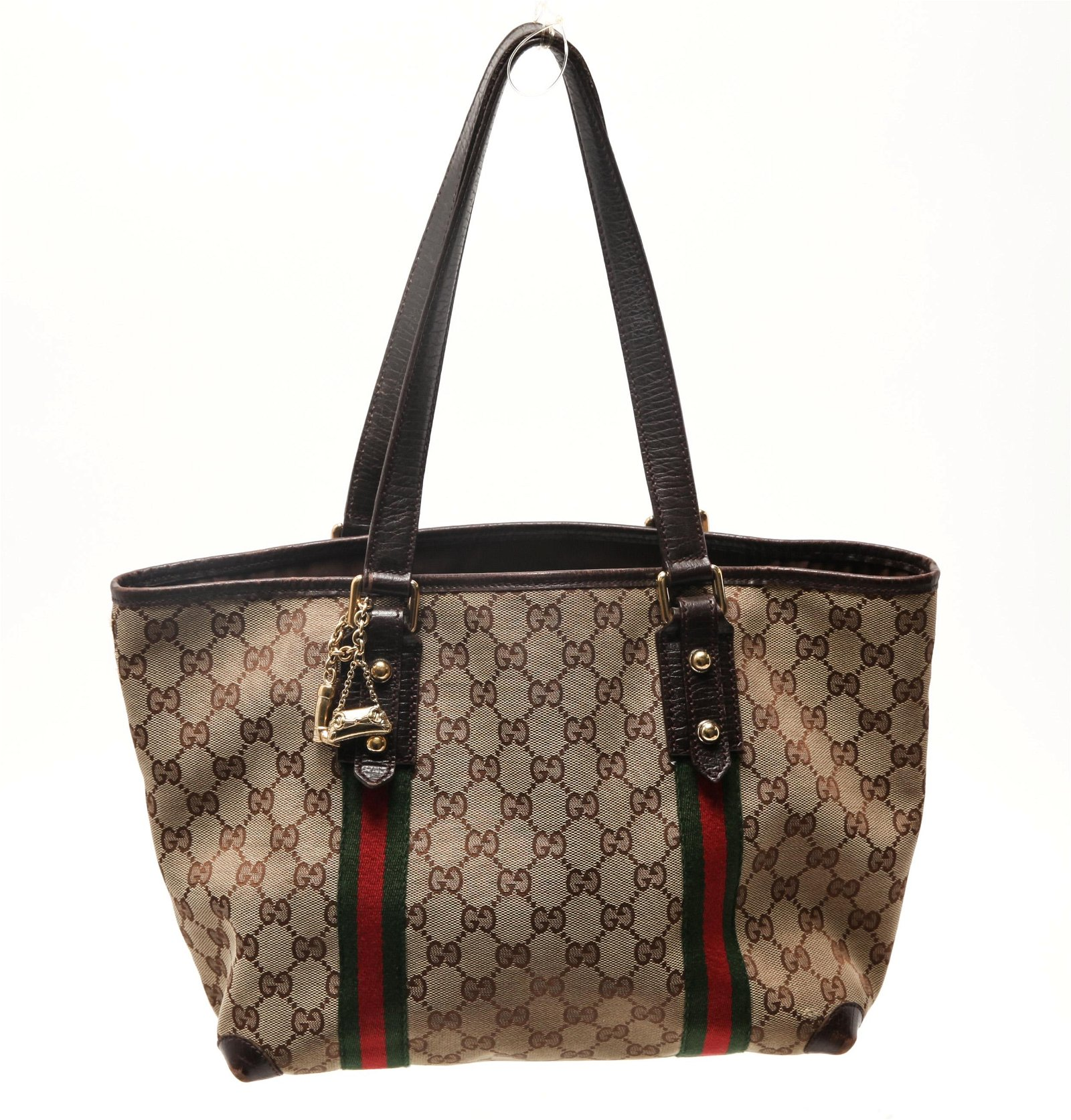 Gucci Monogram Canvas and Leather Bag