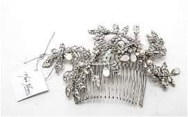 Maria Elena Designer Crystal Pearl & MOP Headpiece