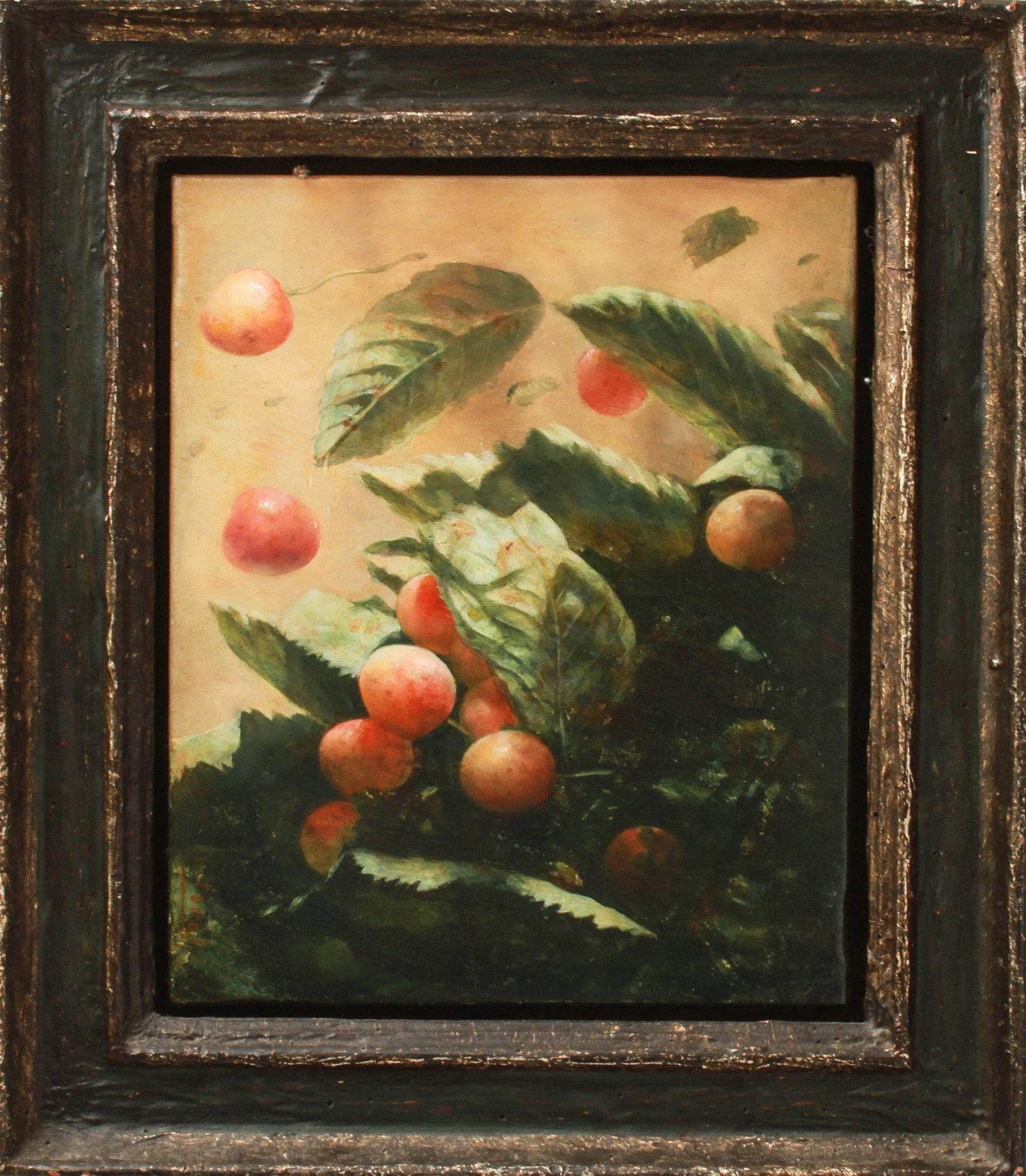 "Cristobal Toral ""Still Life of Cherries"" Oil"