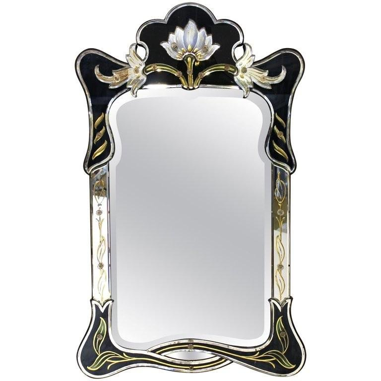Art Nouveau Style Venetian Floral Wall Mirror