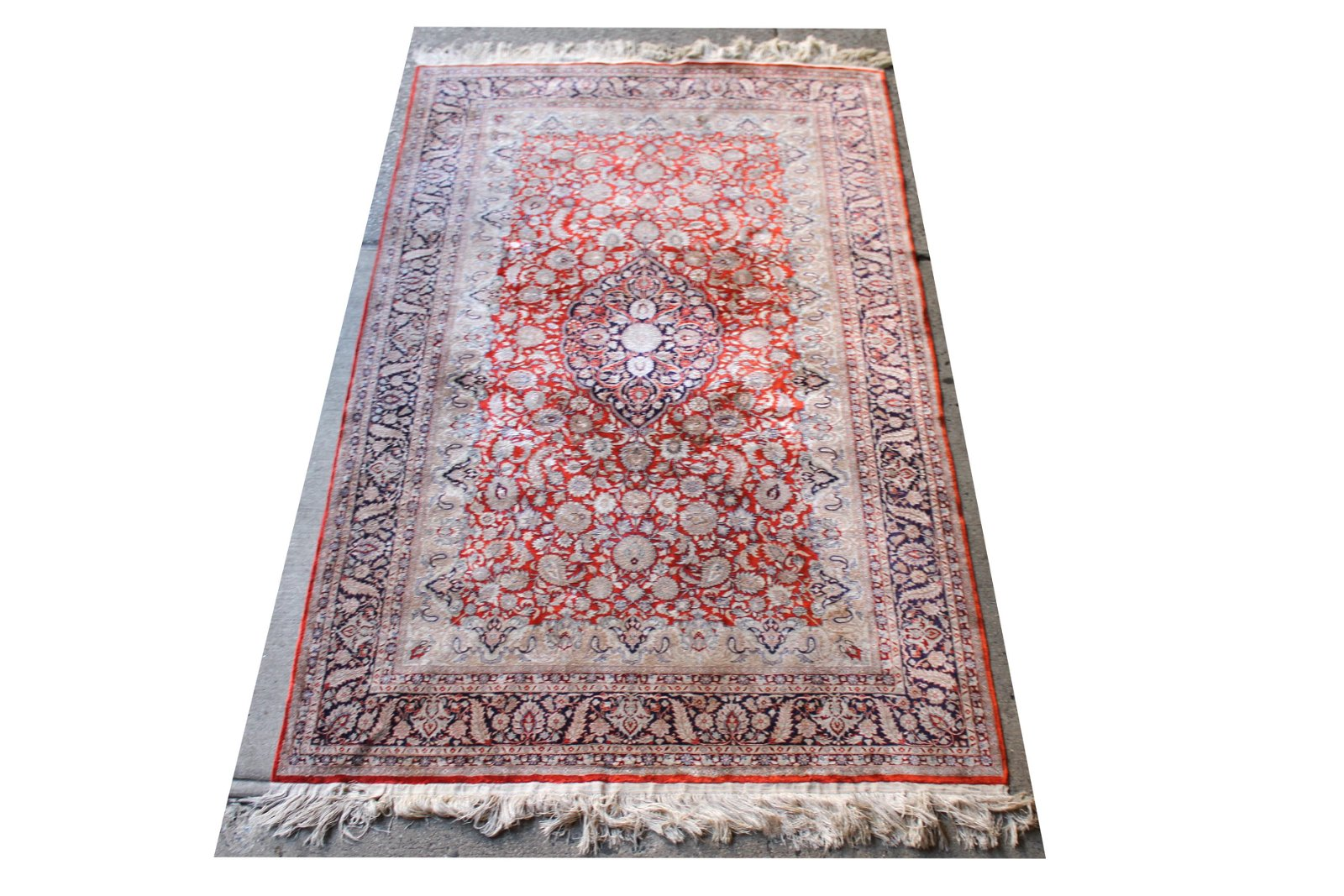 Persian Heriz Silk Carpet 5' x 8' 1""