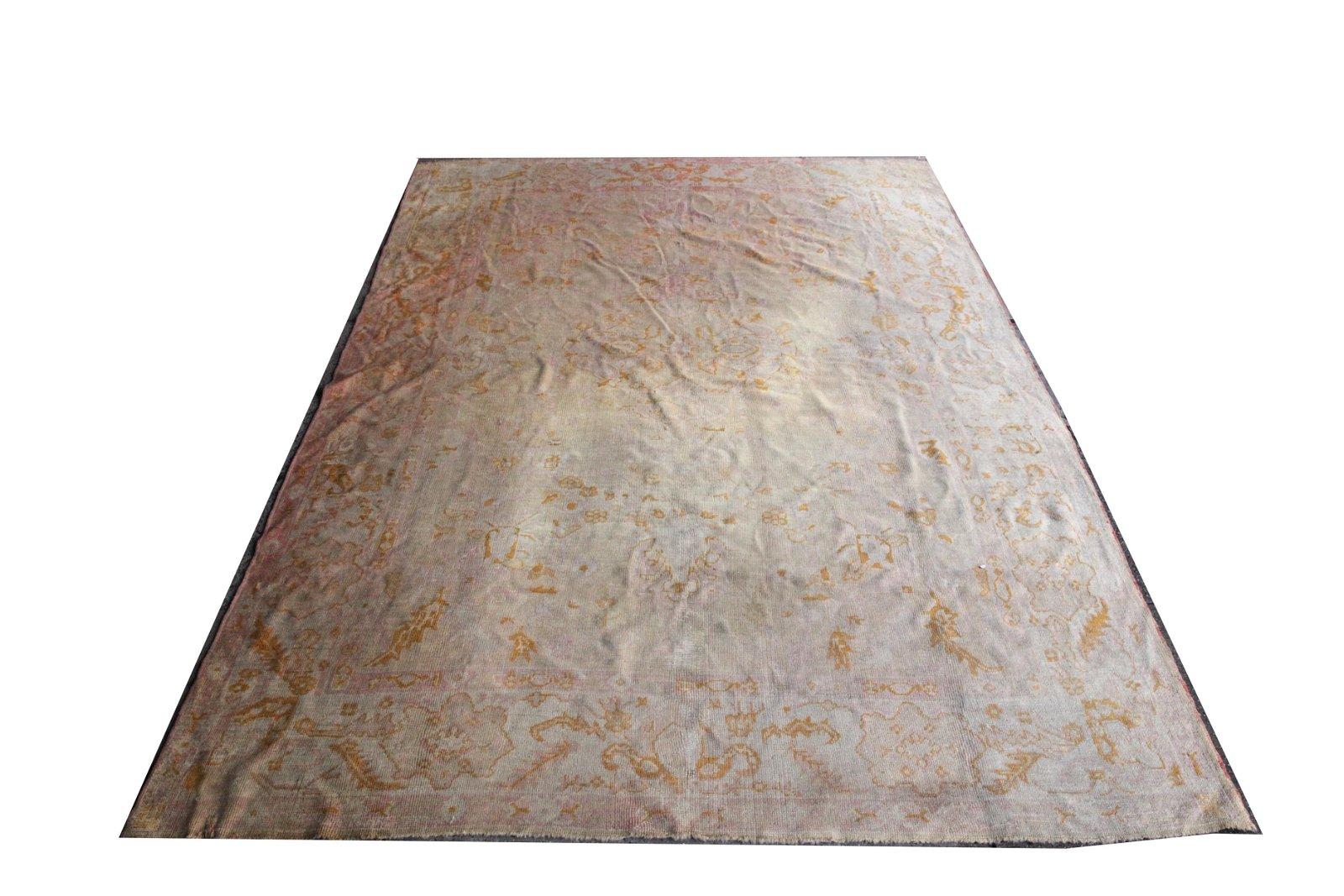 """Oushak Carpet with Floral Motif 8' 7"""" x 11' 9"""""""