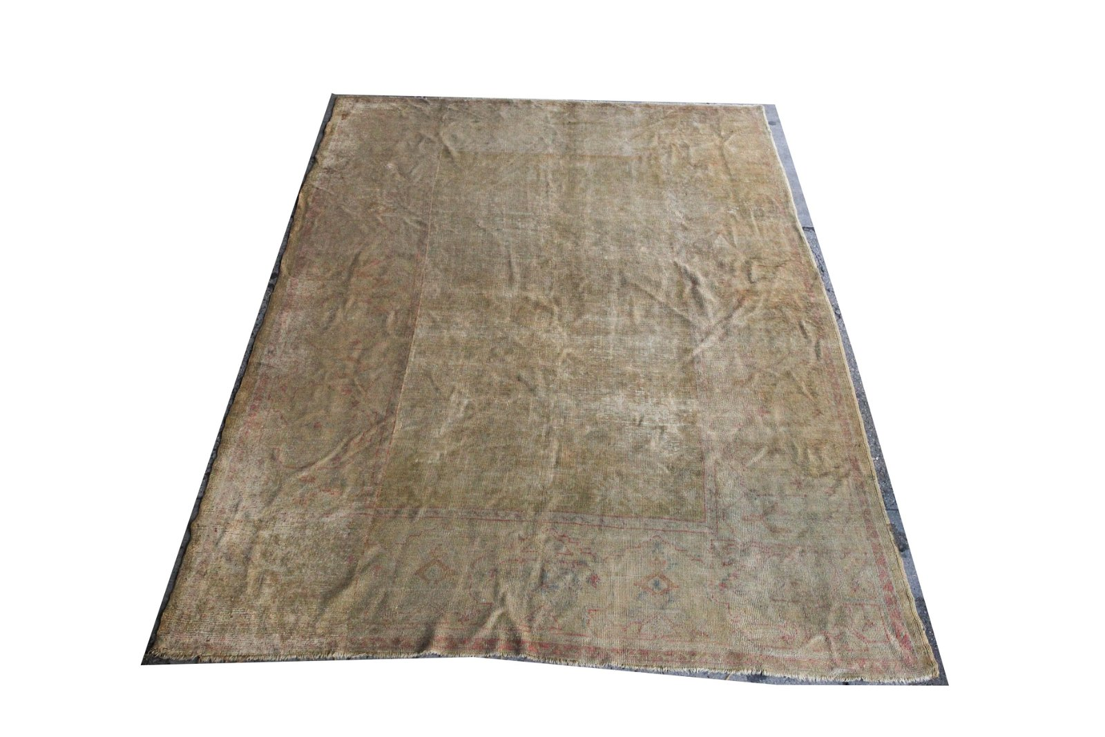 "Oushak Carpet with Geometric Motifs 7' 1"" x 9' 8"""