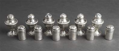Sterling Silver Salt & Pepper Shakers Group of 12
