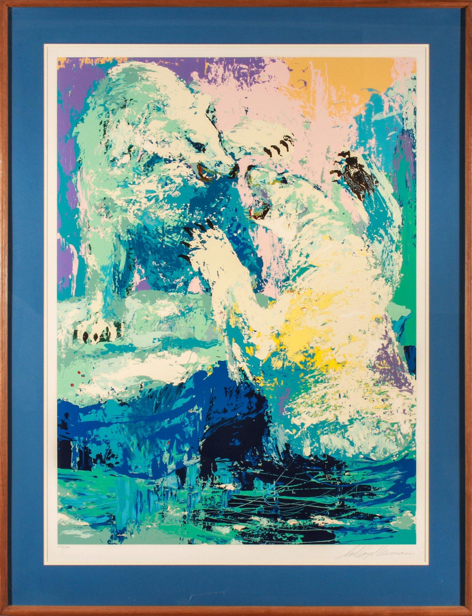 "Leroy Neiman ""Polar Bears"" Serigraph on Paper"