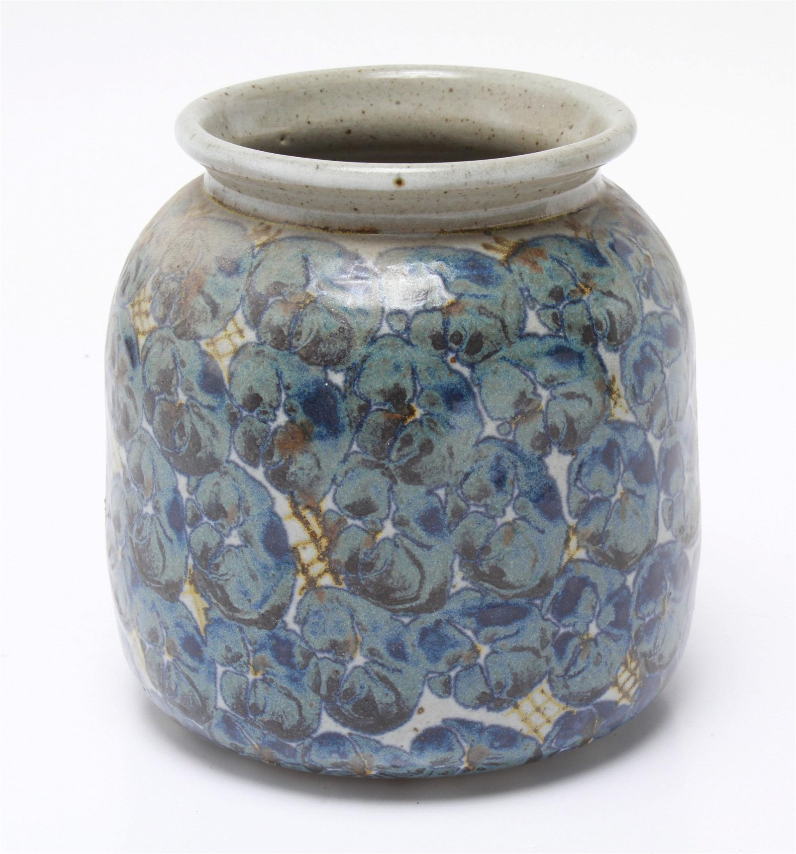 Illegibly Signed Art Studio Pottery Glazed Vase