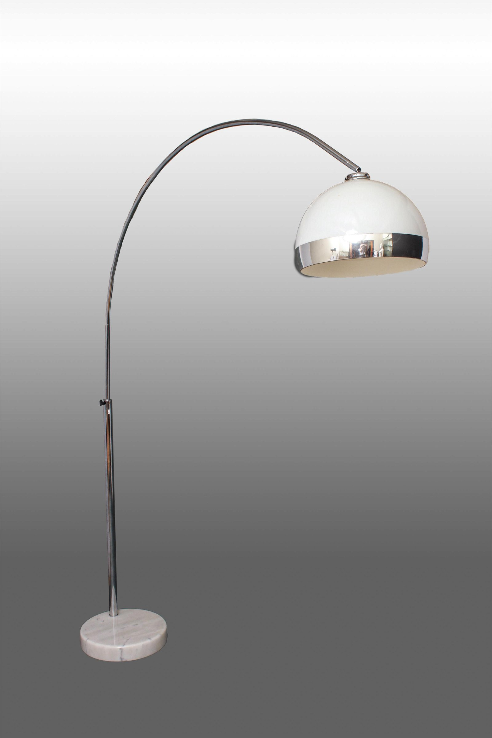 Harvey Guzzini Italian Mid-Century Arc Lamp