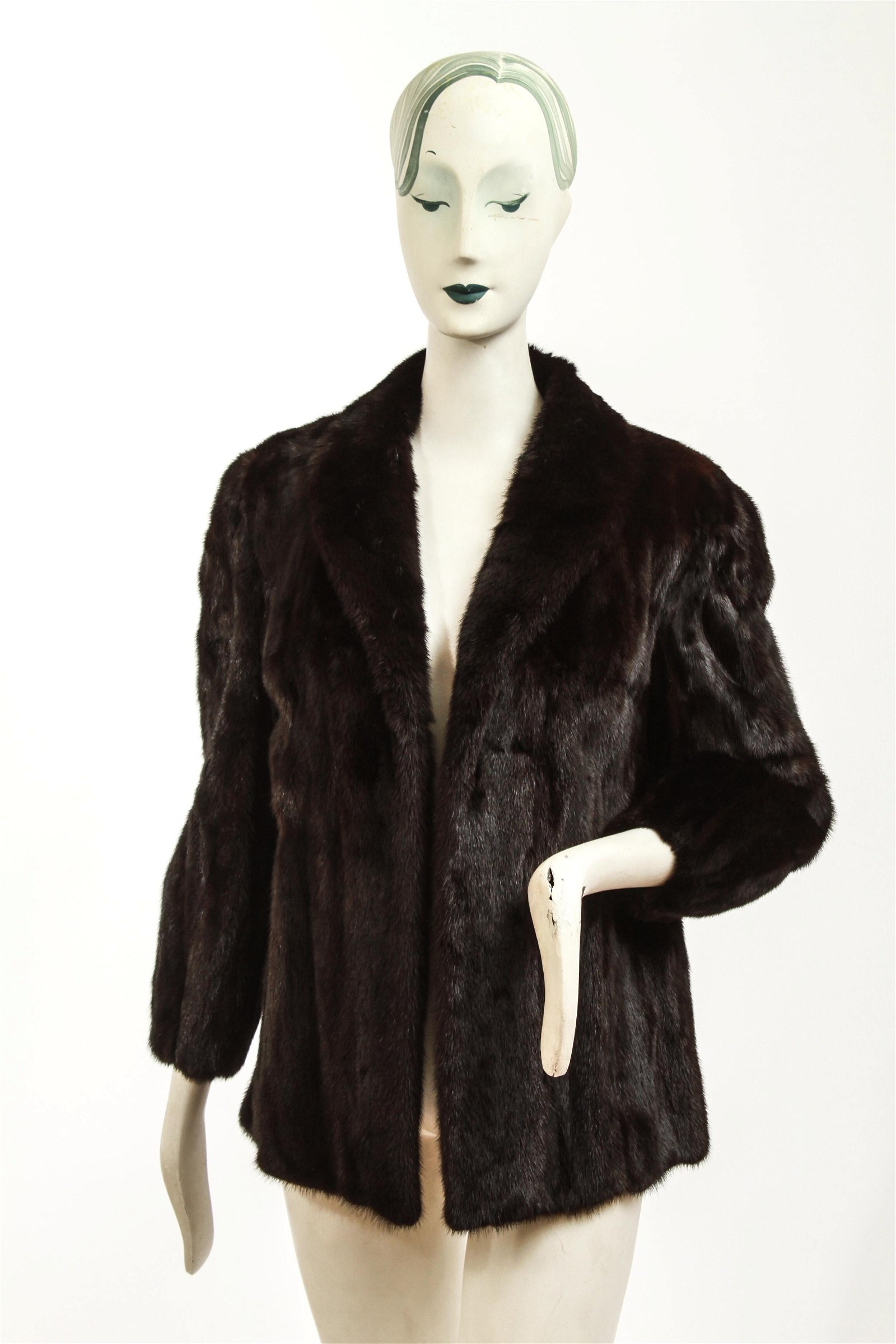 Ladies' Black Mink Fur Jacket Coat