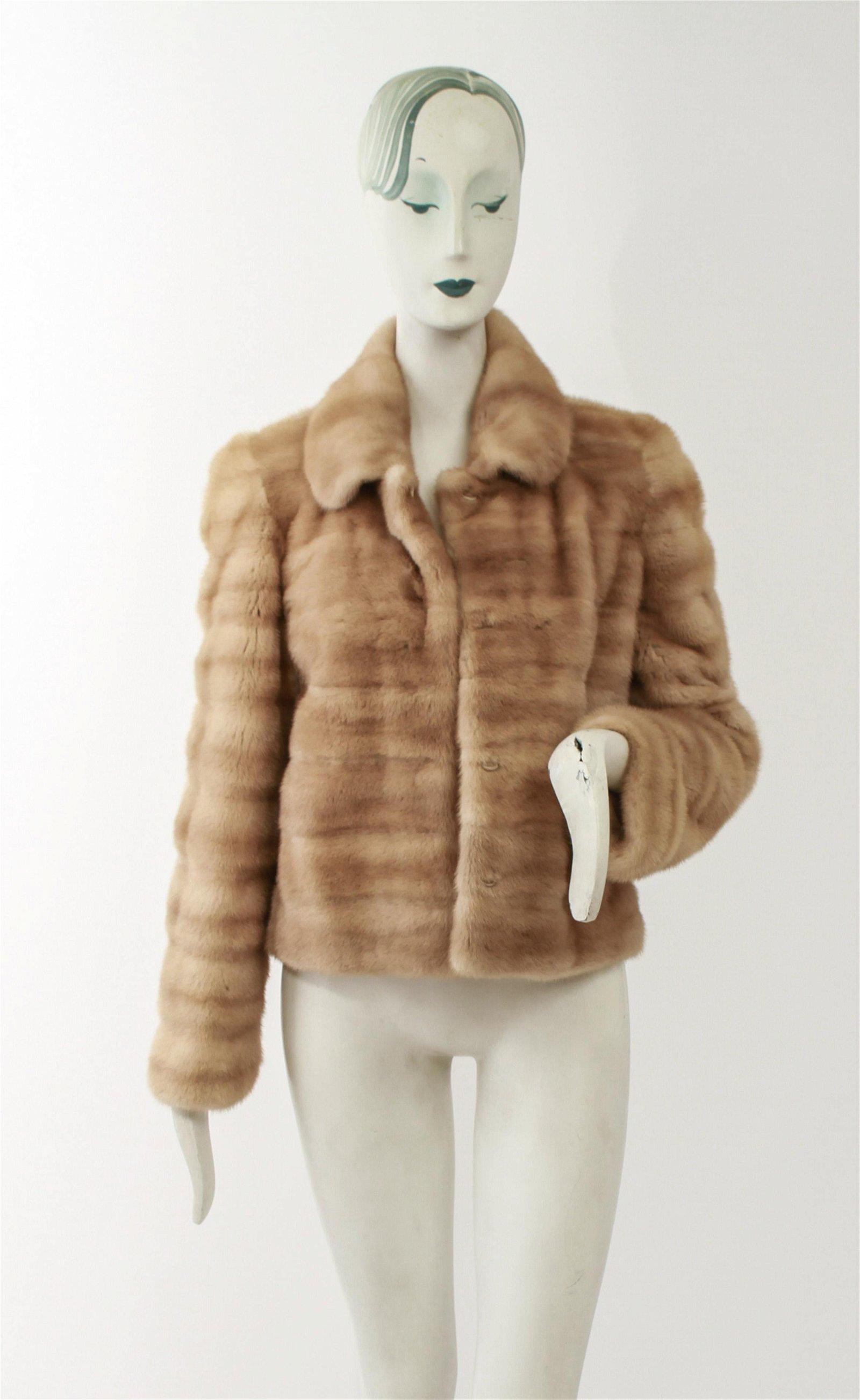 Ladies' Blonde Mink Fur Jacket Coat