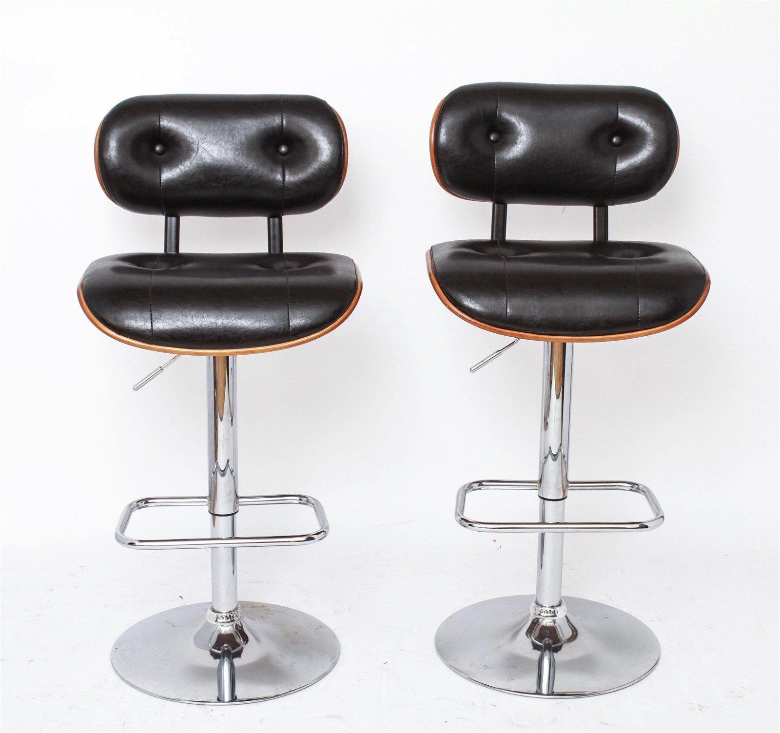 Herman Miller Style Modern Bar Stools, Pair