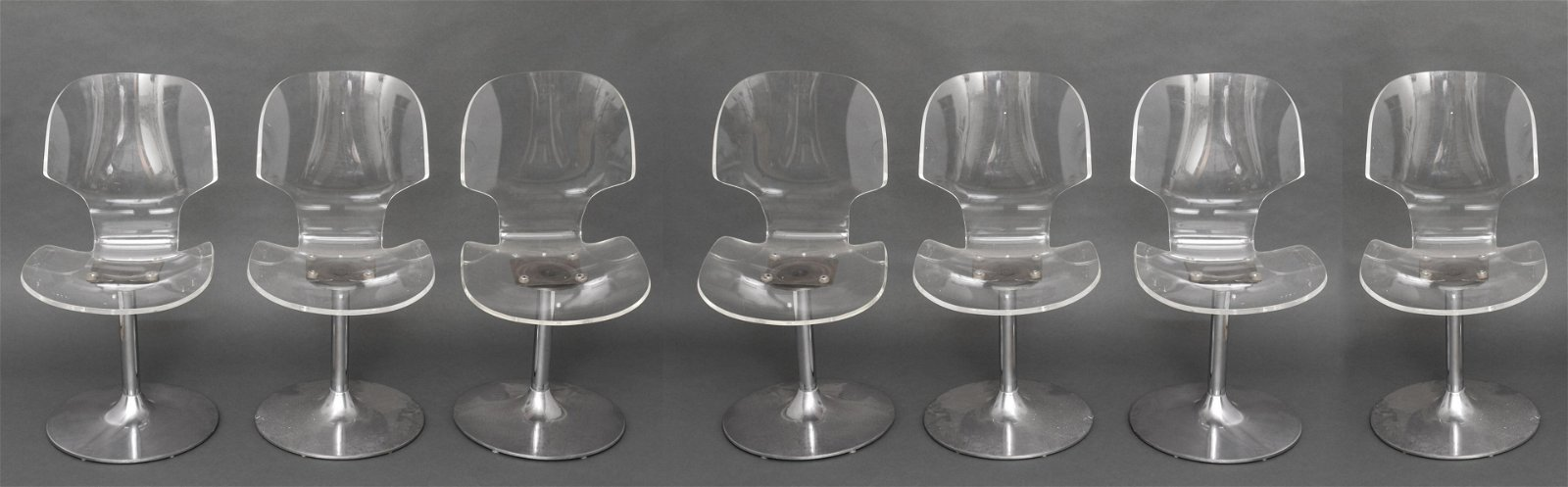 Hill Manufacturing Lucite Dining Chairs, 7