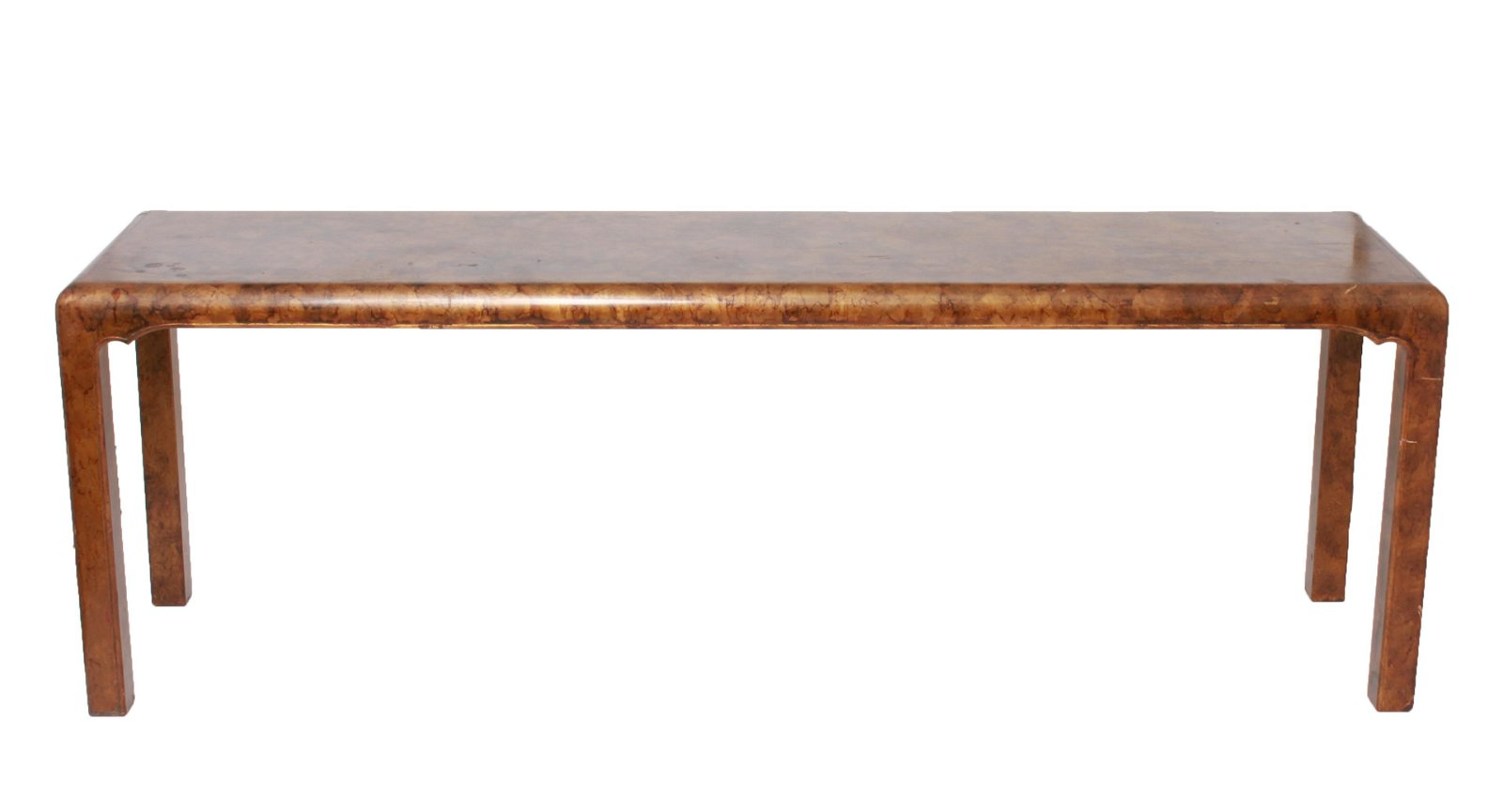 Lacquered Wood Chinoiserie Console Sofa Table